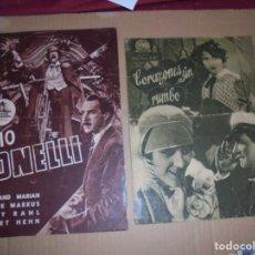 Cine: MAGNIFICAS 47 GUIAS PUBLICITARIAS DE PELICULAS,SALIDA 1 EURO. Lote 195060545