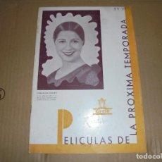 Cine: MAGNIFICO CATALOGO DE PELICULAS TEMPORADA 1939-40 DE CIFESA. Lote 195066038