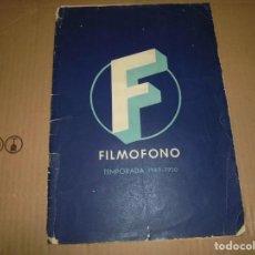 Cine: MAGNIFICO CATALOGO DE PELICULAS FILMOFONO TEMPORADA 1949-50. Lote 195066725