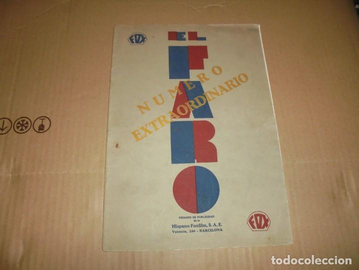 MAGNIFICO CATALOGO DE PELICULAS HISPANO FOXFILM EL FARO NUMERO EXTRAORDINARIO 1930-31 (Cine - Guías Publicitarias de Películas )