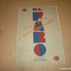 Cine: MAGNIFICO CATALOGO DE PELICULAS HISPANO FOXFILM EL FARO NUMERO EXTRAORDINARIO 1930-31. Lote 195067207
