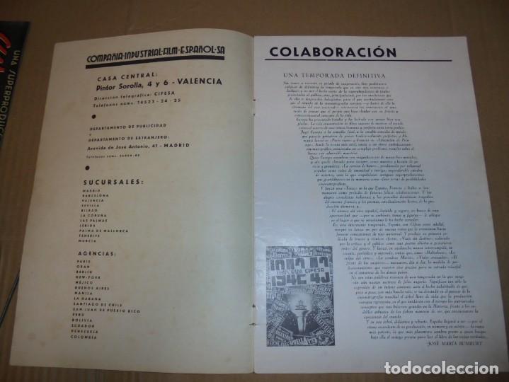 Cine: magnifico antiguo catalogo de peliculas cifesa temporada 1942-43 - Foto 2 - 195103201