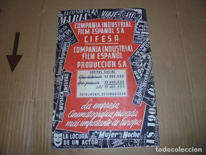 Cine: magnifico antiguo catalogo de peliculas cifesa temporada 1942-43 - Foto 16 - 195103201