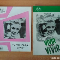 Cine: G1--GUIA DE LA PELICULA -- VIVIR PARA VIVIR. Lote 195117251