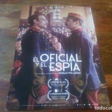 Cine: EL OFICIAL Y EL ESPIA - JEAN DUJARDIN, LOUIS GARREL, ROMAN POLANSKI - GUIA ORIGINAL CARAMEL AÑO 2019. Lote 195134201