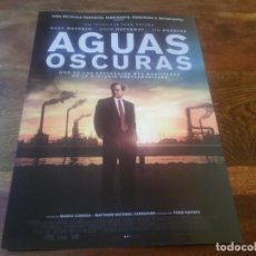 Cine: AGUAS OSCURAS - MARK RUFFALO, ANNE HATHAWAY, TIM ROBBINS - GUIA ORIGINAL EONE AÑO 2020. Lote 195134963