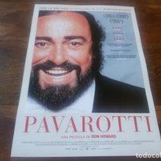 Cine: PAVAROTTI - DIR. RON HOWARD - GUIA ORIGINAL POLYGRAM AÑO 2020. Lote 195135115