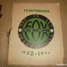 Cine: MAGNIFICO CATALOGO DE CINE FOX TEMPORADA 1932-1933. Lote 195151228