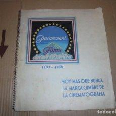 Cine: MAGNIFICO CATALOGO DE PELICULAS PARAMOUNT FILMS TEMPORADA 1933-1934. Lote 195152456