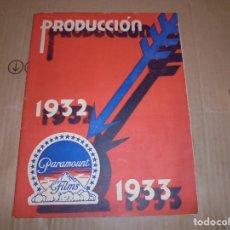 Cine: MAGNIFICO CATALOGO DE PELICULAS PARAMOUNT FILMS TEMPORADA 1932-1933. Lote 195152905