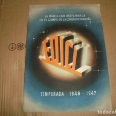 Cine: MAGNIFICO CATALOGO DE PELICULAS DE CINE,EDICI TEMPORADA 1946-1947. Lote 195153131