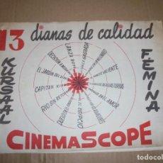 Cine: MAGNIFICO CATALOGO DE PELICULAS DE CINE CENTURY FOX 13 DIANAS DE CALIDAD. Lote 195153287