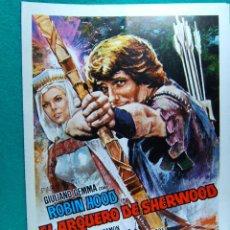 Cine: EL ARQUERO DE SHERWOOD-ROBIN HOOD-GIORGIO FERRONI-GIULIANO GEMMA-ILUSTRA MAC-2 HOJAS-1971.. Lote 195191283