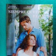 Cine: SIEMPRE QUEDA EL AMOR-FOREST WHITAKER-SANDRA BULLOCK-HARRY CONNICK JR.-MAE WHITMAN-4 PAGINAS-1998. . Lote 195229320