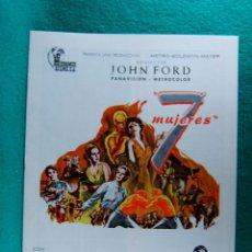 Cine: 7 SIETE MUJERES-JOHN FORD-ANNE BANCROFT-SUE LYON-MARGARET LEIGHTON-FLORA ROBSON-8 PAGINAS-1968. . Lote 195230275