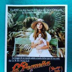 Cine: LA PEQUEÑA-PRETTY BABY-LOUIS MALLE-BROOKE SHIELDS-SUSAN SARANDON-KEITH CARRADINE-4 PAGINAS-1978.. Lote 195322470