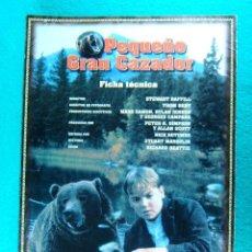 Cine: EL PEQUEÑO GRAN CAZADOR-STEWART RAFFILL-BRYAN BROWN-TOM JACKSON-DANIEL CLARK-2 PAGINAS-1999. . Lote 195323910