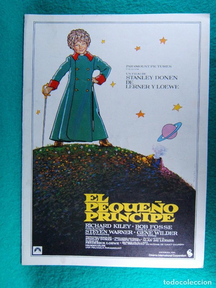 EL PEQUEÑO PRINCIPE-STANLEY DONEN-RICHARD KILEY-STEVEN WARNER-BOS FOSSE-GENE WILDER-4 PAGINAS-1975. (Cine - Guías Publicitarias de Películas )