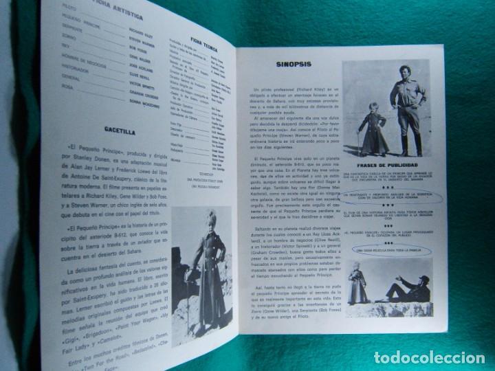 Cine: EL PEQUEÑO PRINCIPE-STANLEY DONEN-RICHARD KILEY-STEVEN WARNER-BOS FOSSE-GENE WILDER-4 PAGINAS-1975. - Foto 2 - 195328537