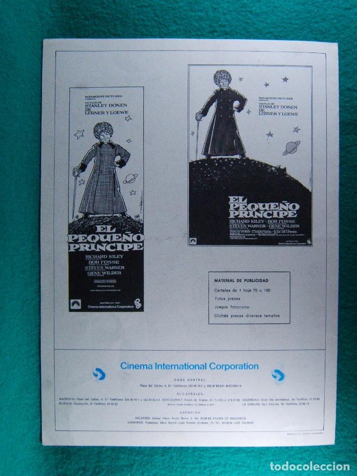 Cine: EL PEQUEÑO PRINCIPE-STANLEY DONEN-RICHARD KILEY-STEVEN WARNER-BOS FOSSE-GENE WILDER-4 PAGINAS-1975. - Foto 3 - 195328537