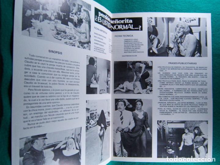 Cine: PERDON SEÑORITA ¿ ES USTED NORMAL...?-UMBERTO LENZI-RENZO MONTAGNINI-RAY LOVELOCK-4 PAGINAS-1980. - Foto 2 - 195329336