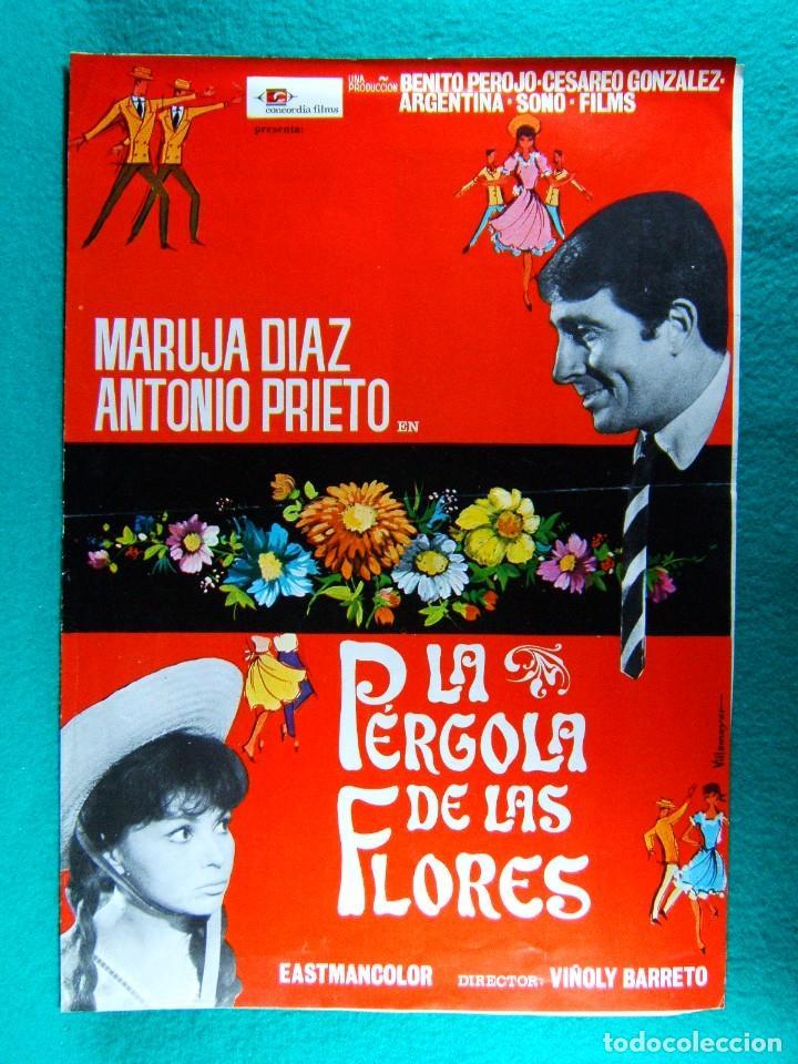 LA PERGOLA DE LAS FLORES-VIÑOLY BARRETO-MARUJITA DIAZ-ANTONIO PRIETO-ILUSTRA VILLAMAYOR-4 PAGIN-1965 (Cine - Guías Publicitarias de Películas )