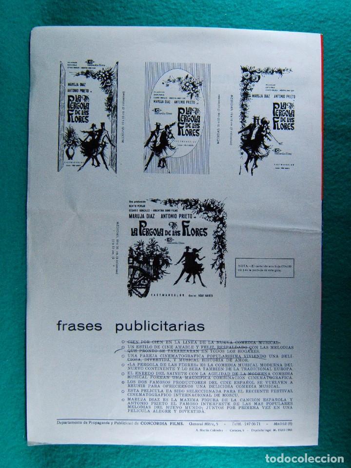 Cine: LA PERGOLA DE LAS FLORES-VIÑOLY BARRETO-MARUJITA DIAZ-ANTONIO PRIETO-ILUSTRA VILLAMAYOR-4 PAGIN-1965 - Foto 3 - 195329710