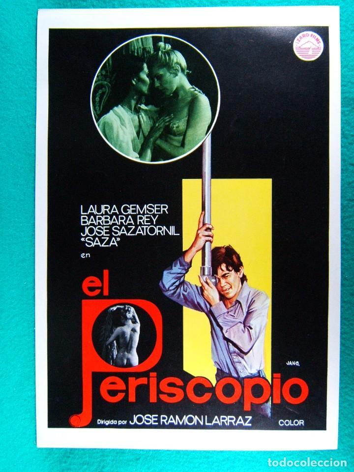 EL PERISCOPIO-JOSE RAMON LARRAZ-LAURA GEMSER-BARBARA REY-JOSE SAZATORNIL SAZA-JANO-2 PAGINAS-1979. (Cine - Guías Publicitarias de Películas )