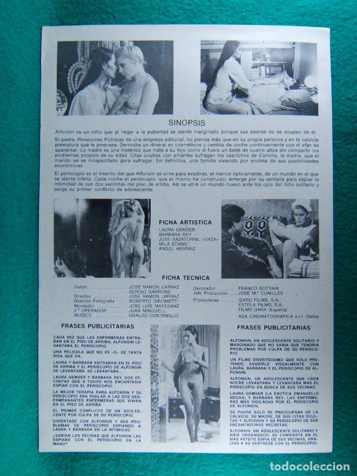 Cine: EL PERISCOPIO-JOSE RAMON LARRAZ-LAURA GEMSER-BARBARA REY-JOSE SAZATORNIL SAZA-JANO-2 PAGINAS-1979. - Foto 2 - 195329988