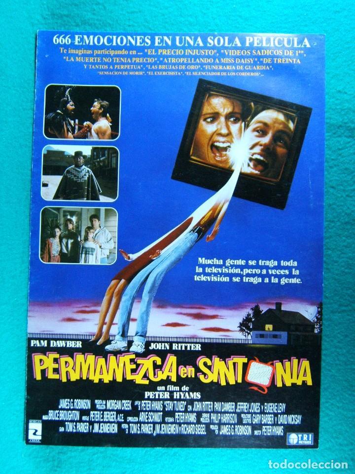 PERMANEZCA EN SINTONIA-STAY TUNED-PETER HYAMS-JOHN RITTER-PAM DAWBER-DAVID TOM-4 PAGINAS-1992. (Cine - Guías Publicitarias de Películas )