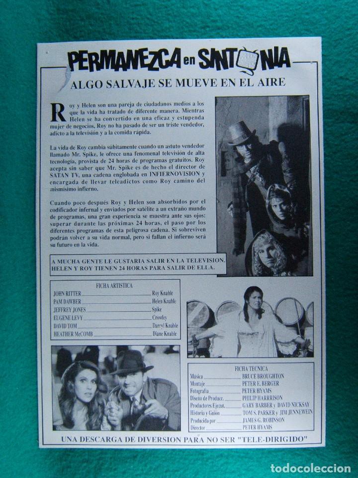 Cine: PERMANEZCA EN SINTONIA-STAY TUNED-PETER HYAMS-JOHN RITTER-PAM DAWBER-DAVID TOM-4 PAGINAS-1992. - Foto 3 - 195330280