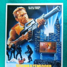 Cine: PERSEGUIDO-THE RUNNING MAN-PAUL MICHAEL GLASER-ARNOLD SCHWARZENEGGER-JIM BROWN-2 PAGINAS-1987. . Lote 195354400