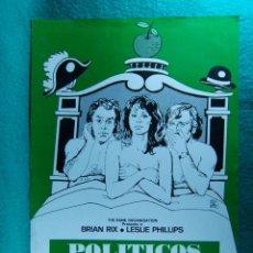 Cine: POLITICOS AL DESNUDO-BOB KELLET-BRIAN RIX-LESLIE PHILLIPS-JOAN SIMS-ILUSTRA MONTALBAN-2 PAGINAS-1973. Lote 195387880