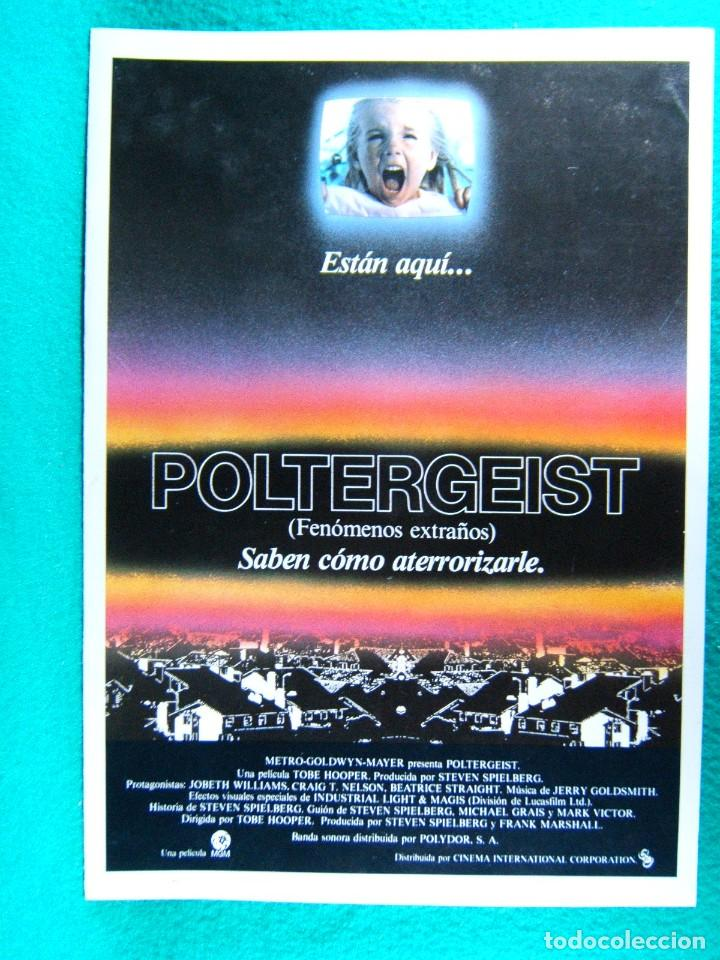 POLTERGEIST-FENOMENOS EXTRAÑOS-TOBE HOOPER-CRAIG T. NELSON-JOBETH WILLIAMS-4 PAGINAS-1982. (Cine - Guías Publicitarias de Películas )