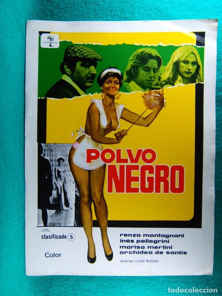 POLVO NEGRO-LUIGI RUSSO-RENZO MONTAGNANI-INES PELLEGRINI-MARISA MERLINI-ILUSTRA JANO-2 PAGINAS-1978. (Cine - Guías Publicitarias de Películas )