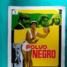 Cine: POLVO NEGRO-LUIGI RUSSO-RENZO MONTAGNANI-INES PELLEGRINI-MARISA MERLINI-ILUSTRA JANO-2 PAGINAS-1978.. Lote 195388301