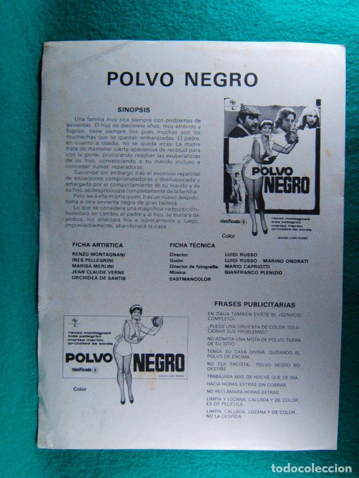 Cine: POLVO NEGRO-LUIGI RUSSO-RENZO MONTAGNANI-INES PELLEGRINI-MARISA MERLINI-ILUSTRA JANO-2 PAGINAS-1978. - Foto 2 - 195388301