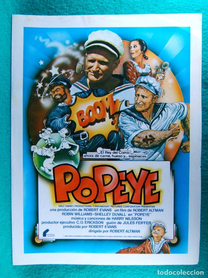 POPEYE-ROBERT ALTMAN-WALT DISNEY-ROBIN WILLIAMS-SHELLEY DUVALL-RAY WALSTON-PAUL DOOLEY-2 PAGINA-1980 (Cine - Guías Publicitarias de Películas )