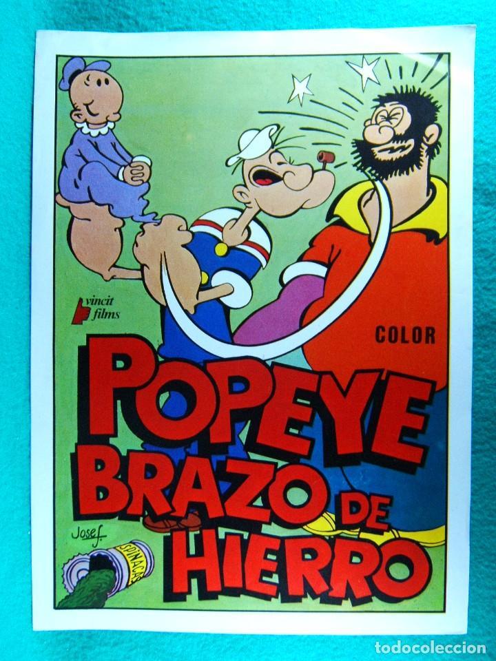 POPEYE BRAZO DE HIERRO-MAX FLESCHER-WALT DISNEY-ANIMACION DIBUJOS-2 PAGINAS-AÑOS 70. (Cine - Guías Publicitarias de Películas )