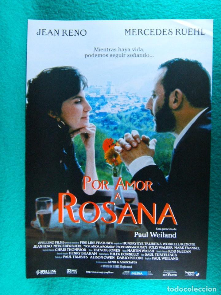 POR AMOR A ROSANA-PAUL WEILAND-JEAN RENO-MERCEDES RUEHL-POLLY WALKER-MARK FRANKEL-2 PAGINAS-1997. (Cine - Guías Publicitarias de Películas )