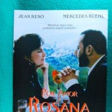 Cine: POR AMOR A ROSANA-PAUL WEILAND-JEAN RENO-MERCEDES RUEHL-POLLY WALKER-MARK FRANKEL-2 PAGINAS-1997. . Lote 195389138