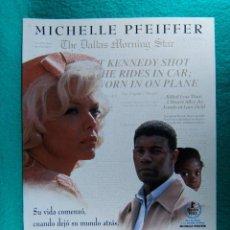 Cine: POR ENCIMA DE TODO-LOVE FIELD-JONATHAN KAPLAN-MICHELLE PFEIFFER-DENNIS HAYSBERT-2 PAGINAS-1992. . Lote 195389263