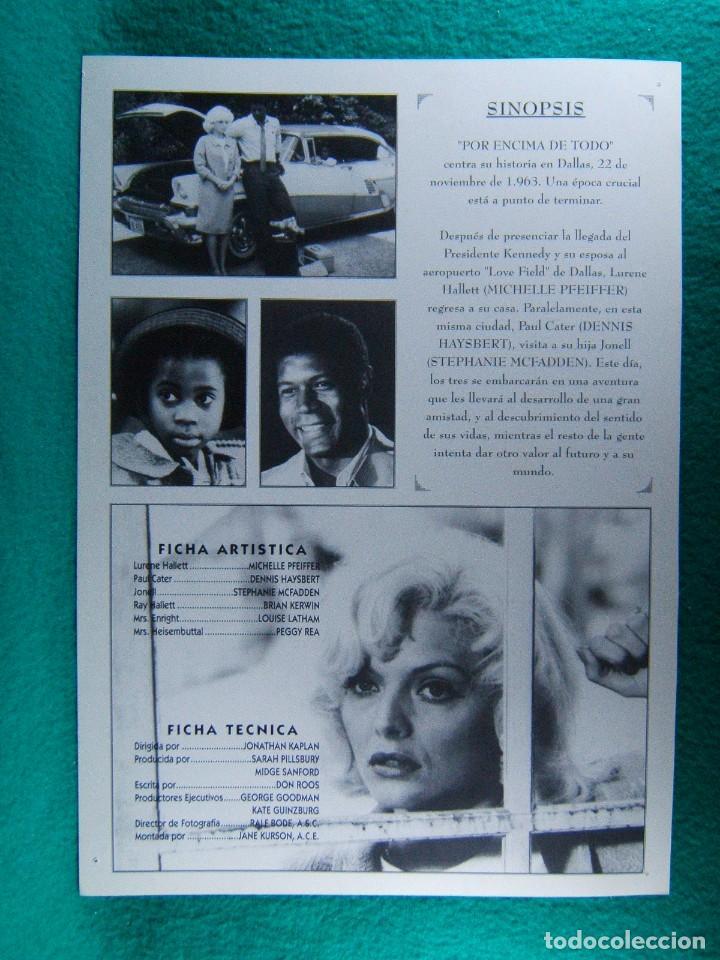 Cine: POR ENCIMA DE TODO-LOVE FIELD-JONATHAN KAPLAN-MICHELLE PFEIFFER-DENNIS HAYSBERT-2 PAGINAS-1992. - Foto 2 - 195389263