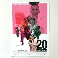 Cine: CINE ESPAÑOL - 20 CENTÍMETROS - RAMÓN SALAZAR - GUÍA PUBLICITARIA FICHA TÉCNICA. Lote 195439068