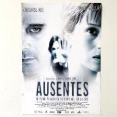 Cine: CINE ESPAÑOL - AUSENTES - GUÍA PUBLICITARIA FICHA TÉCNICA. Lote 195439118