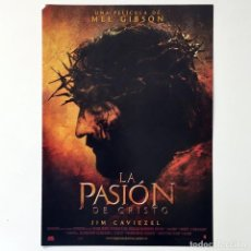 Cine: CINE PELÍCULA - LA PASIÓN DE CRISTO - MEL GIBSON - GUÍA PUBLICITARIA FICHA TÉCNICA. Lote 195439905