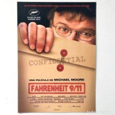 Cine: CINE PELÍCULA - FAHRENHEIT 9/11 - MICHAEL MOORE - GUÍA PUBLICITARIA FICHA TÉCNICA. Lote 195439978
