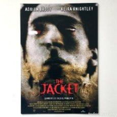 Cine: CINE PELÍCULA - THE JACKET - GUÍA PUBLICITARIA FICHA TÉCNICA. Lote 195440302