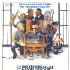 Cine: LA PRISION DE LOS CHIFLADOS. GUIA ORIGINAL ESTRENO.. Lote 195494980
