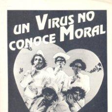 Cine: UN VIRUS NO CONOCE MORAL. GUIA ORIGINAL ESTRENO.. Lote 195495973